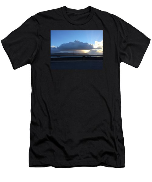 Men's T-Shirt (Slim Fit) featuring the photograph Sunbeams Over Conwy by Christopher Rowlands