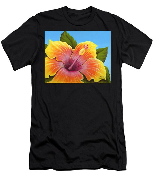 Sunburst Hibiscus Men's T-Shirt (Athletic Fit)