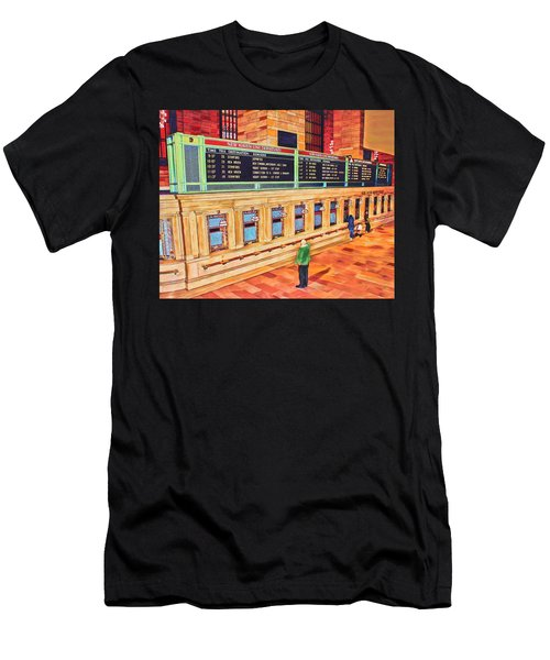 Sunday Am At Grand Central Men's T-Shirt (Athletic Fit)