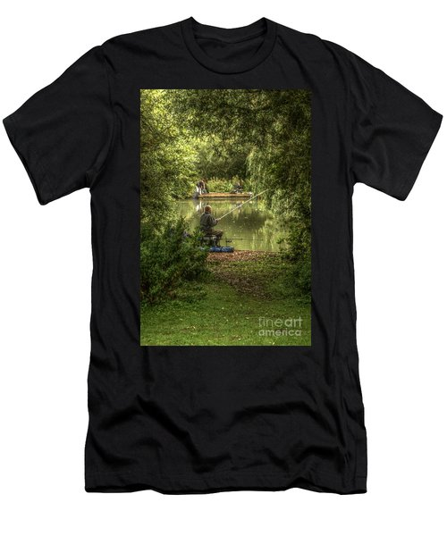 Sunday Fishing At The Lake Men's T-Shirt (Athletic Fit)