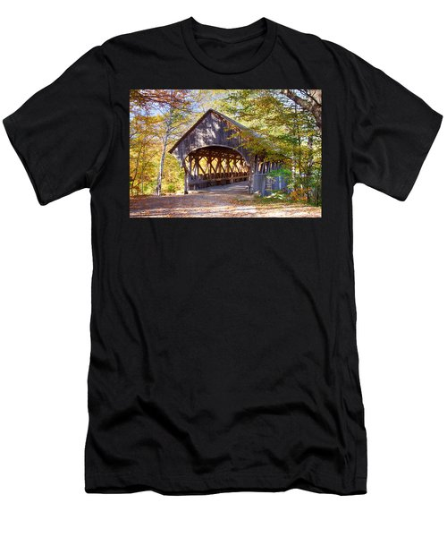 Sunday River Covered Bridge Men's T-Shirt (Athletic Fit)