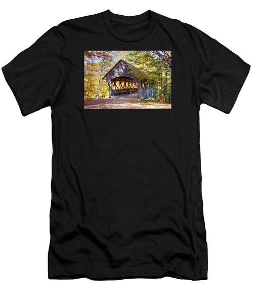 Sunday River Covered Bridge Men's T-Shirt (Athletic Fit)