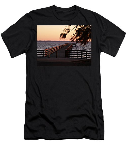 Sundown At Shands Dock Men's T-Shirt (Athletic Fit)