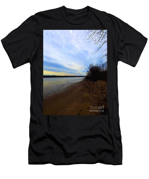 Sundown By The Side Of The River Men's T-Shirt (Athletic Fit)