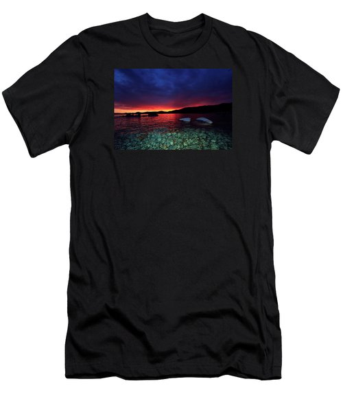 Men's T-Shirt (Slim Fit) featuring the photograph Sundown In Lake Tahoe by Sean Sarsfield