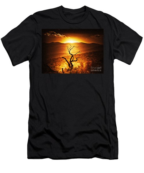 Sundown In The Mountains Men's T-Shirt (Slim Fit) by Lydia Holly