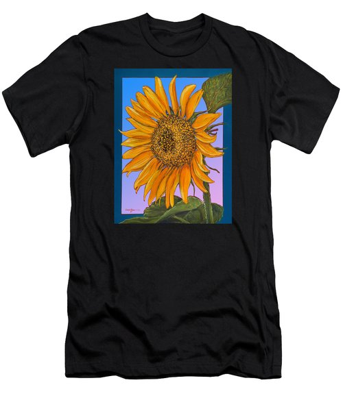 Da154 Sunflower By Daniel Adams Men's T-Shirt (Athletic Fit)