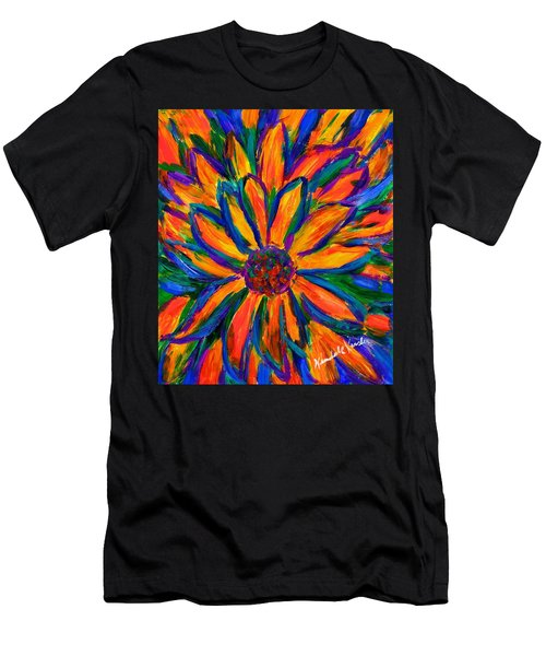 Sunflower Burst Men's T-Shirt (Athletic Fit)