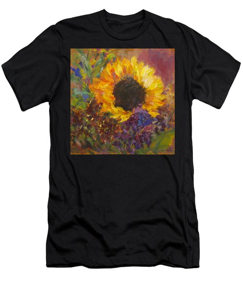 Sunflower Dance Original Painting Impressionist Men's T-Shirt (Athletic Fit)