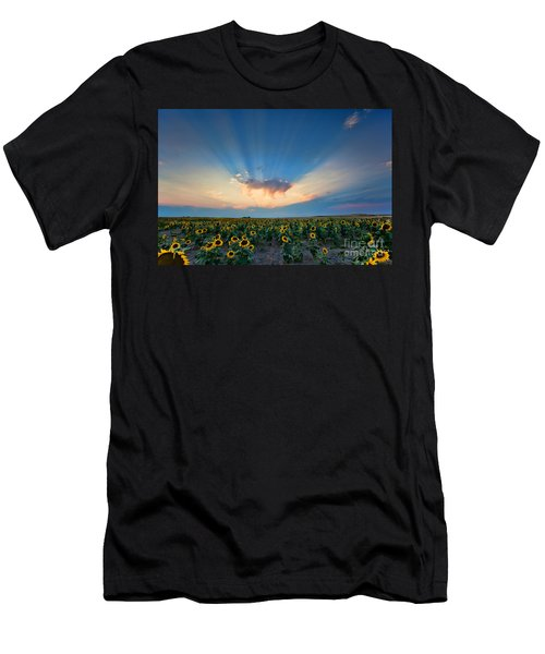 Sunflower Field At Sunset Men's T-Shirt (Athletic Fit)