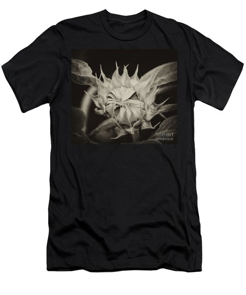 Men's T-Shirt (Slim Fit) featuring the photograph Sunflower Grand Opening by Wilma  Birdwell