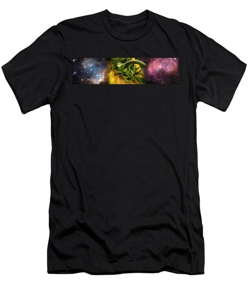 Sunflower In The Hubble Cosmos Men's T-Shirt (Athletic Fit)