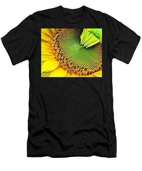 Kaleidescope Sunflower Men's T-Shirt (Athletic Fit)