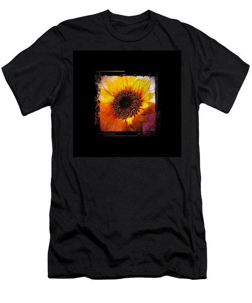 Men's T-Shirt (Slim Fit) featuring the digital art Sunflower Sunset - Art Nouveau  by Absinthe Art By Michelle LeAnn Scott