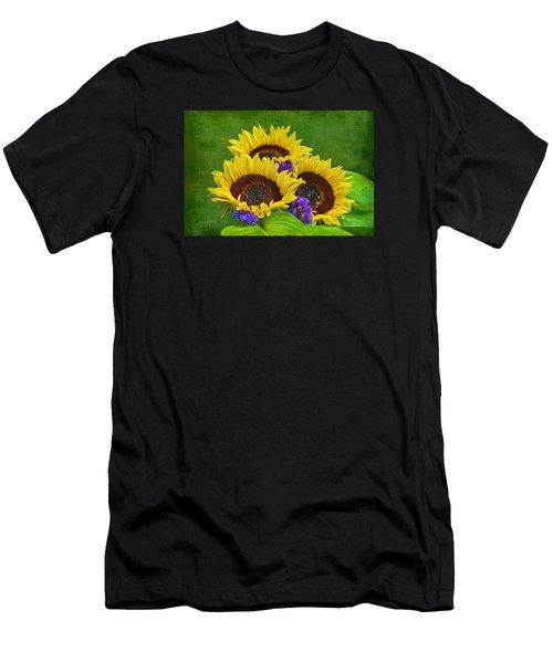 Sunflower Trio Men's T-Shirt (Athletic Fit)