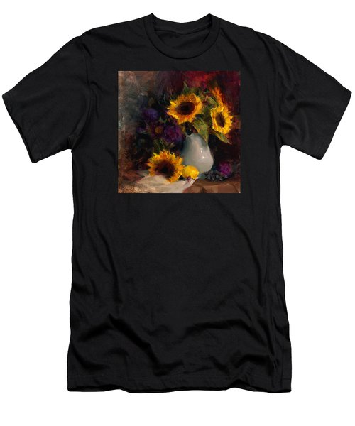Sunflowers And Porcelain Still Life Men's T-Shirt (Athletic Fit)
