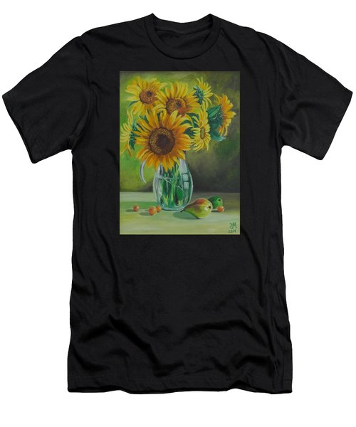 Sunflowers In Glass Jug Men's T-Shirt (Athletic Fit)