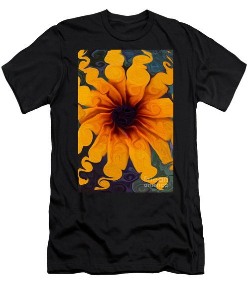 Sunflowers On Psychadelics Men's T-Shirt (Athletic Fit)