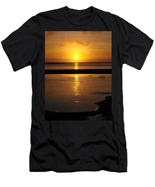 Men's T-Shirt (Slim Fit) featuring the photograph Sunkist Sunset by Athena Mckinzie