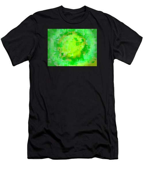 Original Abstract Art Painting Sunlight In The Trees  Men's T-Shirt (Athletic Fit)