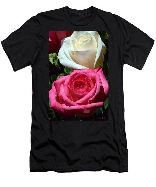 Sunlit Roses Men's T-Shirt (Slim Fit) by Marie Hicks