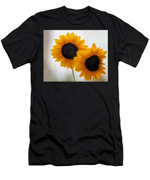 Sunny Flower On A Rainy Day Men's T-Shirt (Athletic Fit)