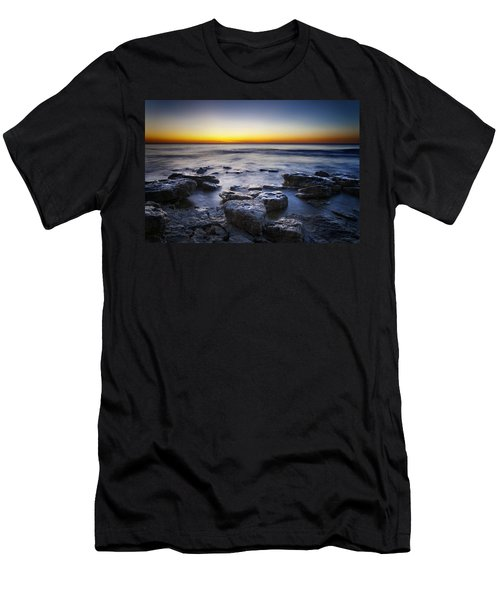 Sunrise At Cave Point Men's T-Shirt (Slim Fit)