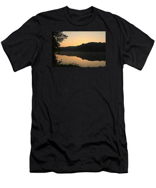 Sunrise At Rose Lake Men's T-Shirt (Slim Fit) by Julie Andel