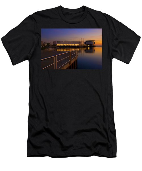 Sunrise At The Lakefront Men's T-Shirt (Slim Fit) by Jonah  Anderson