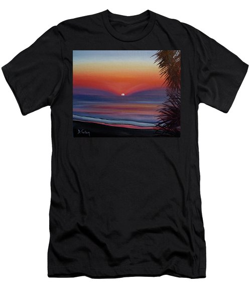 Men's T-Shirt (Slim Fit) featuring the painting Sunrise Glow by Donna Tuten