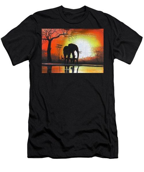 Sunrise In Africa Men's T-Shirt (Athletic Fit)