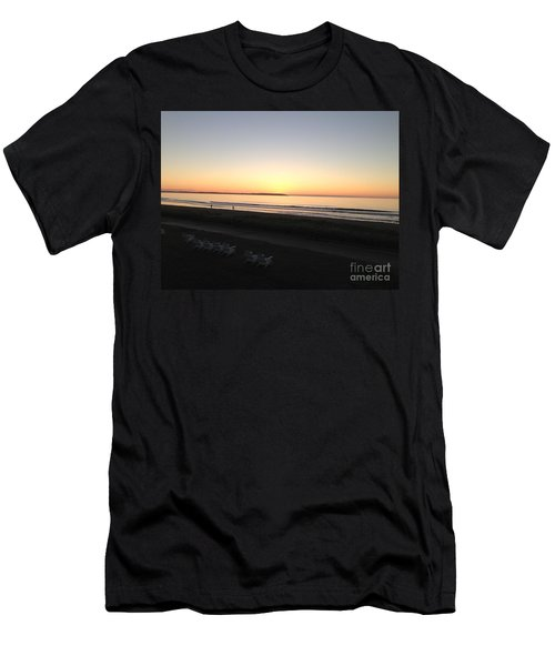 Old Orchard Beach Sunrise  Men's T-Shirt (Athletic Fit)