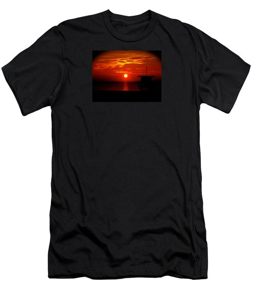 Sunrise In Miami Beach Men's T-Shirt (Athletic Fit)