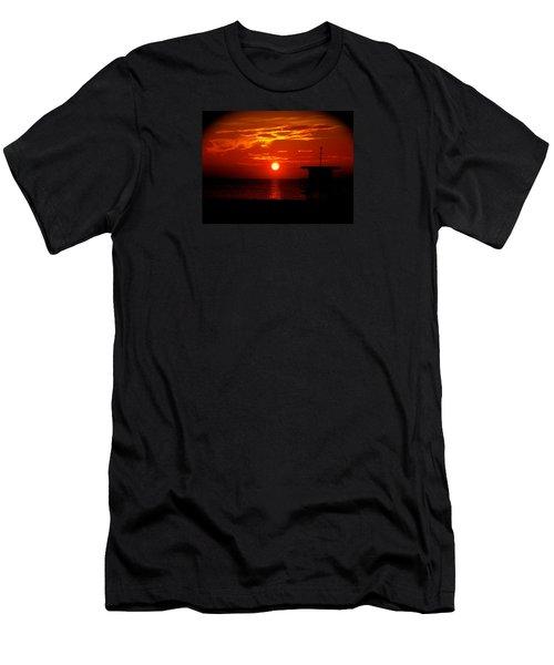 Sunrise In Miami Beach Men's T-Shirt (Athletic Fit)