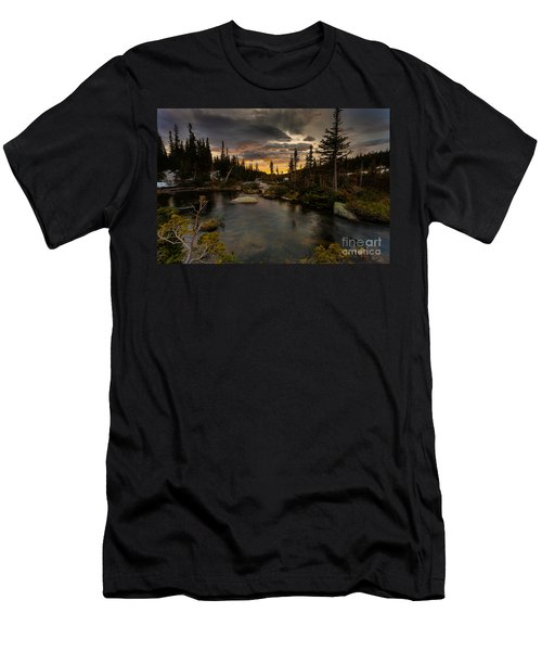 Sunrise In The Indian Peaks Men's T-Shirt (Athletic Fit)