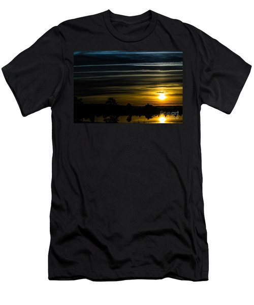 Men's T-Shirt (Slim Fit) featuring the photograph Sunrise In Virginia by Angela DeFrias