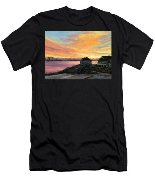 Sunrise Long Beach Rockport Ma Men's T-Shirt (Athletic Fit)