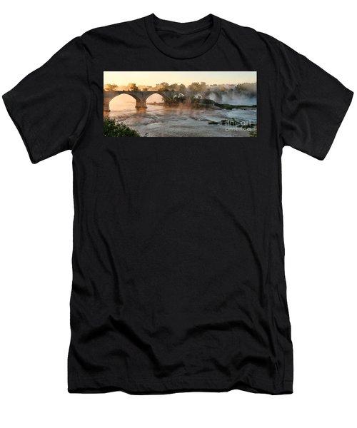 Sunrise On Interurban Bridge 0369 Men's T-Shirt (Athletic Fit)