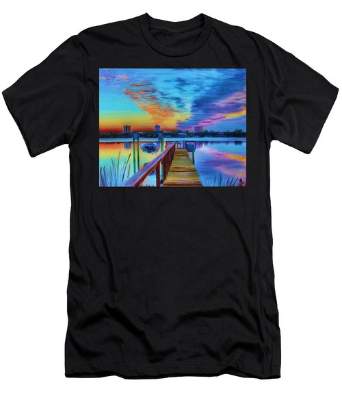 Sunrise On The Dock Men's T-Shirt (Athletic Fit)