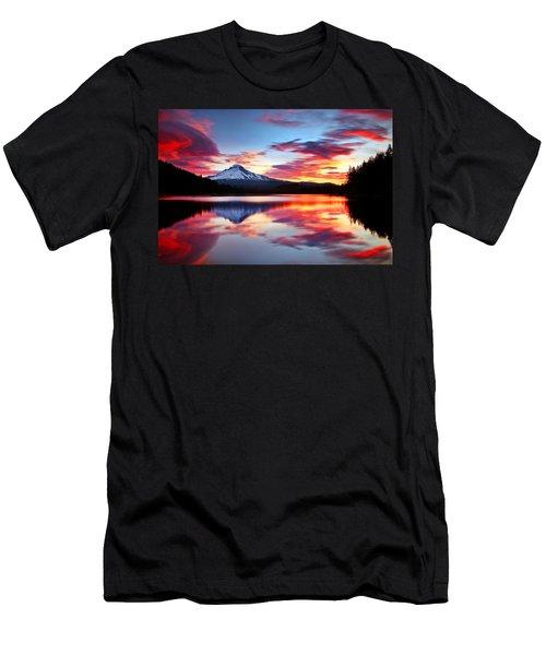 Sunrise On The Lake Men's T-Shirt (Slim Fit) by Darren  White