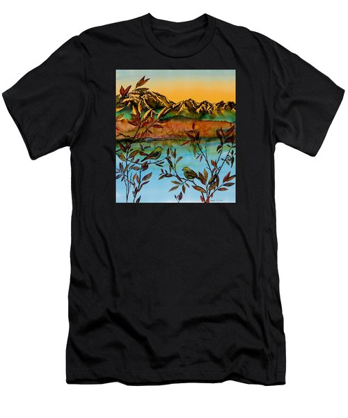 Sunrise On Willows Men's T-Shirt (Athletic Fit)