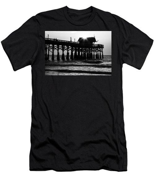 Sunrise Over Pier Men's T-Shirt (Athletic Fit)