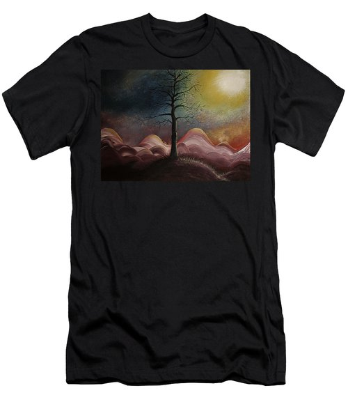 Sunrise Over The Mountains Men's T-Shirt (Slim Fit) by Gray  Artus