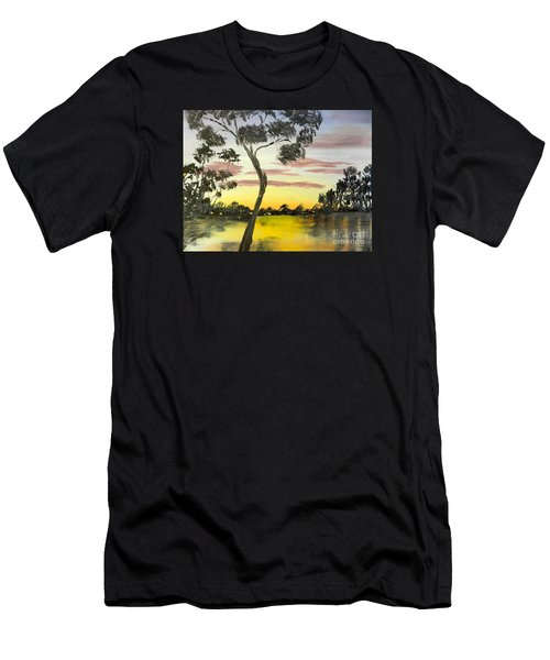 Sunrise Over The Murray River At Lowson South Australia Men's T-Shirt (Athletic Fit)