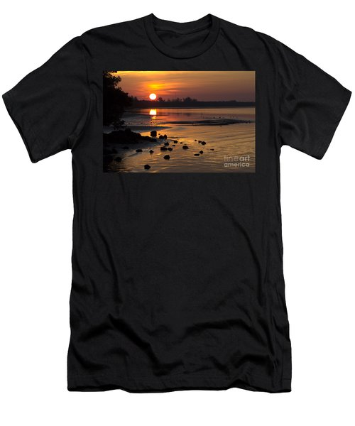 Men's T-Shirt (Slim Fit) featuring the photograph Sunrise Photograph by Meg Rousher
