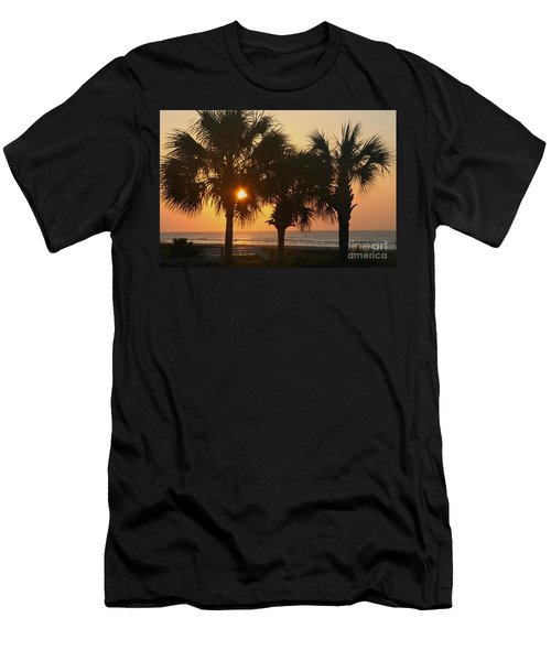 Sunrise Through The Palms Men's T-Shirt (Slim Fit) by Kevin McCarthy