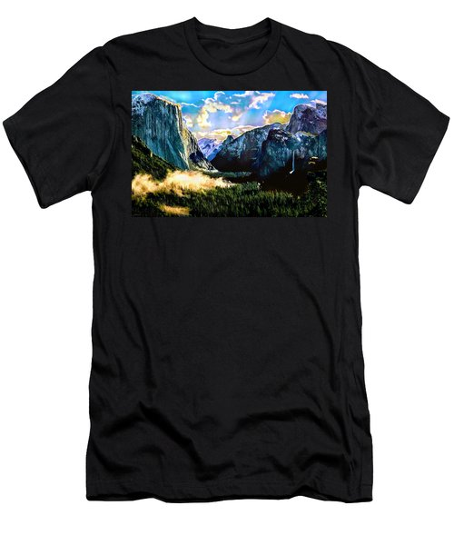 Sunrise Yosemite Valley Nationalpark Men's T-Shirt (Athletic Fit)