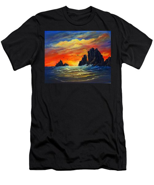 Sunset 2 Men's T-Shirt (Slim Fit) by Bozena Zajaczkowska