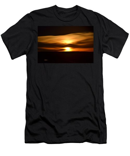 Sunset Abstract I Men's T-Shirt (Athletic Fit)