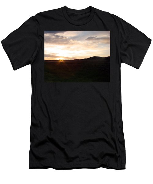 Men's T-Shirt (Slim Fit) featuring the photograph Sunset Across I 90 by Cathy Anderson